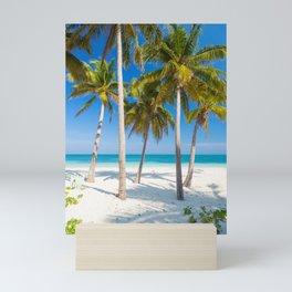 Palm trees on the sandy beach of Cayo Levisa | Travel photography Cuba Mini Art Print