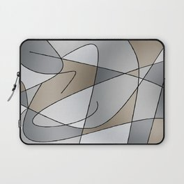 ABSTRACT CURVES #2 (Grays & Beiges) Laptop Sleeve