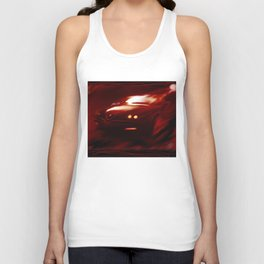 Flaming Alfa Gtv 916 Unisex Tank Top