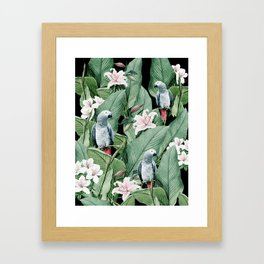 Tropical flight Framed Art Print