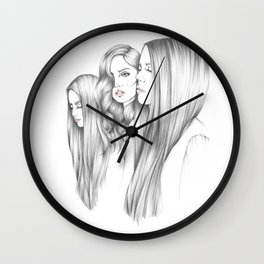 Sleepy Models at Fashion Week Wall Clock