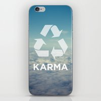karma iPhone & iPod Skins featuring karma by katieswanson.design