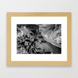 Ocean Waves on Rocks Framed Art Print
