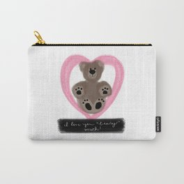 "I Love You ""Beary"" Much Carry-All Pouch"