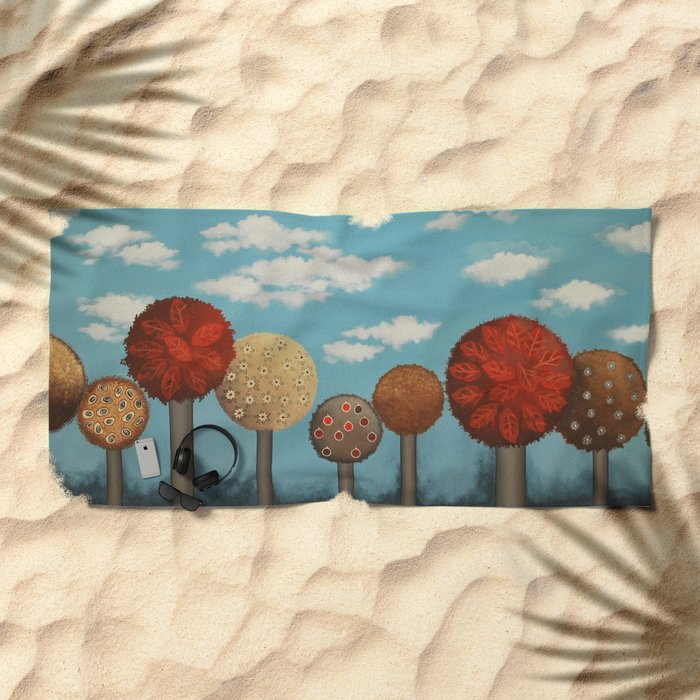 Dream grove Beach Towel