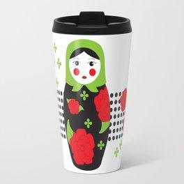 Pop-art Russian Doll Matryoshka Travel Mug