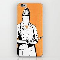 nurse iPhone & iPod Skins featuring Cigarette Nurse by Ben Talatzko