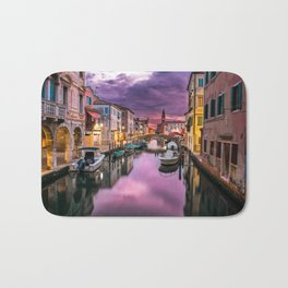 Venice Italy Canal at Sunset Photograph Bath Mat