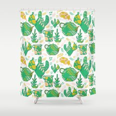 Romance of the teapot Shower Curtain