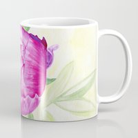 peony Mugs featuring Peony by my first palette