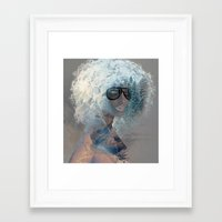 afro Framed Art Prints featuring Afro  by Vin Zzep