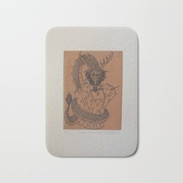 Draco constrictor (possitive) Bath Mat