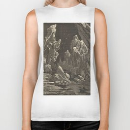 Camille Flammarion - Astronomie populaire  Black And White Magical Space Crystal Fantasy Landscape Biker Tank