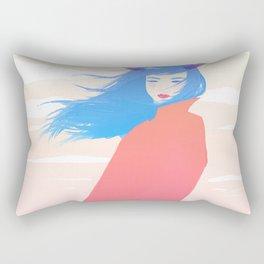 Girl with Horns Rectangular Pillow