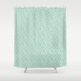 Raindrop Confetti Shower Curtain