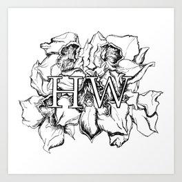 """HW"" Drawing Art Print"