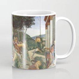 "Sandro Botticelli ""Youth of Moses"", Sistine Chapel. Coffee Mug"