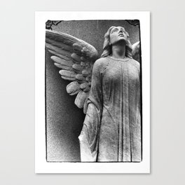 Female Angel Looking Upwards #faith #Christmas Canvas Print