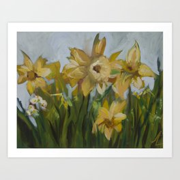 Clouds of Daffodils Art Print