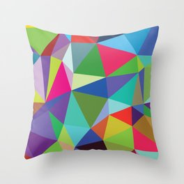 Abstract triangle mosaic background Throw Pillow