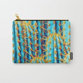 Neon Gold Cactus Carry-All Pouch