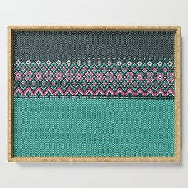 Beaded pattern Serving Tray