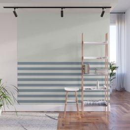 Half Blue Stripes Wall Mural