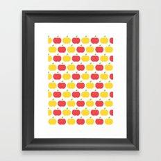 The Essential Patterns of Childhood - Apple Framed Art Print