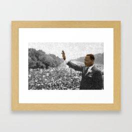 Martin Luther King Junior Wall Art Portrait, Speech, Home Decor, Dorm Decor, Freedom, Framed Art Print