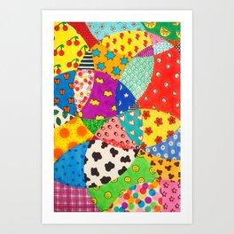 Neon Circular Collage Art Print