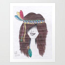 365 cabelos - índios Art Print