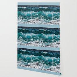 Breakers Rolling In To Shore Wallpaper