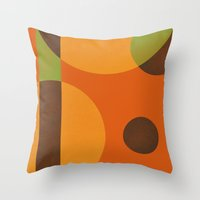 circles Throw Pillows featuring Circles by Farnell
