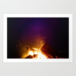 The Fire Sunset (Color) Art Print
