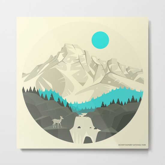 MT RAINIER NATIONAL PARK Metal Print
