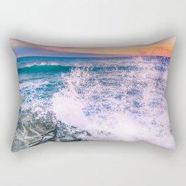 Surf Atlantic Rocky Coast Rectangular Pillow