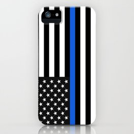 Thin Blue Line American Flag iPhone Case