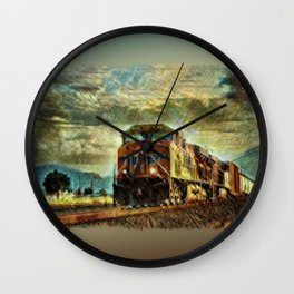 Observance Valley Freight Line Wall Clock