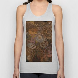 Changing Gear - Steampunk Gears & Cogs Unisex Tank Top