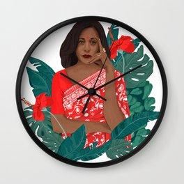 Kamala Aunty Wall Clock