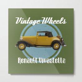Vintage Wheels: Renault Vivastella Metal Print