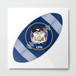 Utah State USA Football Flag Metal Print