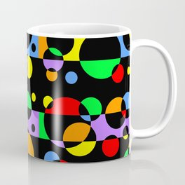 Rainbow Geometric Multicolored Modern Circle Pattern Coffee Mug