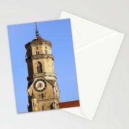Hauptturm der Stiftskirche in Stuttgart Stationery Cards