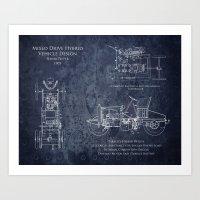 1905 Hybrid Car Patent Art Print