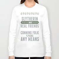 slytherin Long Sleeve T-shirts featuring Slytherin by Dorothy Leigh