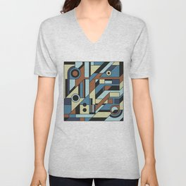 De Stijl Abstract Geometric Artwork 3 Unisex V-Neck