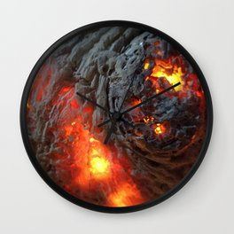 Flaming Seashell 1 Wall Clock