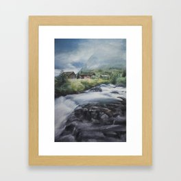 Mountain landscape Framed Art Print