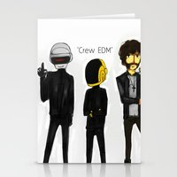 edm Stationery Cards featuring Crew EDM by American Mornings